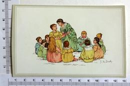 CHROMO LITHOGRAPHIE ...ILLUSTRATEUR J.M.DEALY...RONDE DE JEUNES ENFANTS - Vieux Papiers