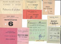 Teatro Biglietto Biglietti D'ìingresso Teatri Di Roma Lazio 10 Biglietti Tutti Teatri Differenti Romani - Biglietti D'ingresso