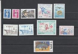 Saint Pierre Et Miquelon 1992 Yvert  N°  555 Et 556 + 558 à 562 + 569 à 571  ** - St.Pierre & Miquelon