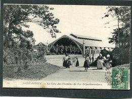 CPA - SAINT BRIEUC - La Gare Des Chemins De Fer Départementaux, Animé - Saint-Brieuc