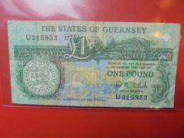 GUERNESEY 1 POUND 1980-89 CIRCULER - Guernsey