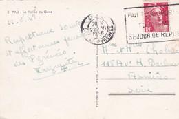 Timbre MARIANNE De Gandon . 6 F Rouge SEUL S/ Cpsm 9X14 PAU (64) La Vallée Du Gave - France
