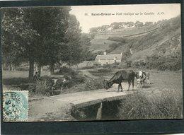 CPA - SAINT BRIEUC - Pont Rustique Sur Le Gouëdic, Animé - Saint-Brieuc