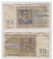 BELGIQUE - 20 F 03-04-56 - N° B08 964391 - [ 2] 1831-... : Royaume De Belgique