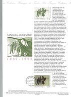 Document Officiel De La Poste- Marcel Duchamp Premier Jour 17.10.98 - Documents De La Poste