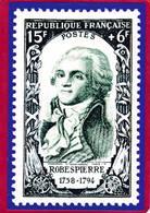 CPM  Carte Représentant Timbre 15F + 6F  République Française ROBESPIERRE  ( F1 - Stamps (pictures)