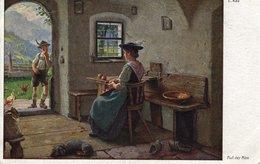 E. Rau - Auf Der Alm - Galerie Münchner Meister Ca 1910 Coloriert - Ansichtskarten