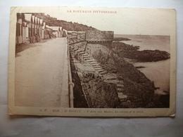 Carte Postale Saint Brieuc (22) L'Anse Aux Moines ,les Cabines Et Le Fortin ( Petit Format Oblitérée 1932 Timbre 50 C) - Saint-Brieuc