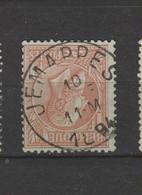 COB 51 Oblitération Centrale JEMAPPES - 1884-1891 Leopold II