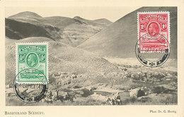 D37381 CARTE MAXIMUM CARD RR 1934 BASUTOLAND - MOUNTAINS AND LANDSCAPECP ORIGINAL - Geology