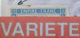 R1917/183 - NAPOLEON III N°14B LUXE Sur ✉️ COGNAC (15 MARS 1862) à SAINTES - BELLE VARIETE ➤➤➤ Rosette N/O Retouchée - 1853-1860 Napoleon III