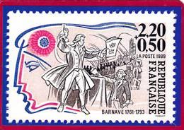CPM  Carte Représentant Timbre 2,20F + 0,50F  République Française BARNAVE Dessinateur FORGET   ( F1 - Stamps (pictures)