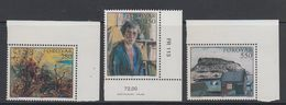 Faroe Islands 1985 Paintings 3v (corners) ** Mnh (42807) - Faeroër