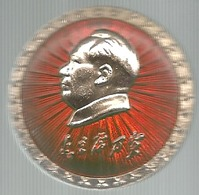 Cina, Il Pensiero Di Mao Tse Tung, Mist. Smaltata Gr. 5, Cm. 3,7. - Personaggi Celebri