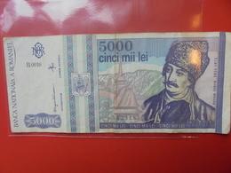 ROUMANIE 5000 LEI 1993 CIRCULER - Romania