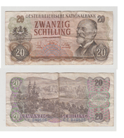 AUTRICHE - 20  SCHILLING - AM 9 JULI 1956 -N° CC  949505 - Austria