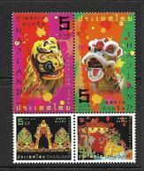 THAILANDE 2008 NOUVEL AN CHINOIS YVERT N°2562/65 NEUF MNH** - Thaïlande