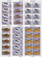 E914. 10x Guinea - Bissau - MNH - Transport - Aviation - Full Sheet - Imperf - Transports