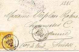Enveloppe Du 25 Mai  1885 Au Départ Vichy Pour La Suisse - 1877-1920: Periodo Semi Moderno