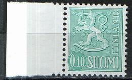 PIA -  FINLANDIA -  1963  : Posta Ordinaria - Leone Rampante - Nuova Moneta  -  (Yv 534B) - Finlandia