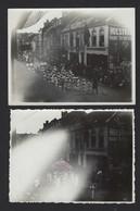 GENT * 2 OUDE FOTO'S * OPTOCHT * BRUGSEPOORT ?? * 10.5 X 8 CM - Gent
