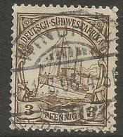 German SW Africa - 1901 Kaiser's Yacht 3pf Fine Used   Mi 11  Sc 13 - Colony: German South West Africa