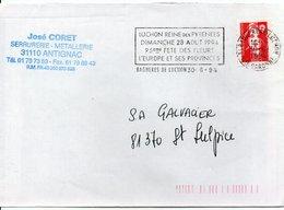 Flamme  31 : BAGNERES DE LUCHON  Reine Des Pyrénées FETE DES FLEURS EUROPE PROVINCES  / Marianne Briat - 1961-....