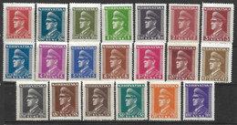 Croatia 1943/44 MNH Pavelic Definitive Set Mi#128/147 - Croatia