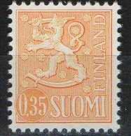 PIA -  FINLANDIA -  1974  : Posta Ordinaria - Leone Rampante - Nuova Moneta  -  (Yv 709 I) - Unused Stamps