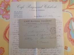 Café Chabert Aix Les Bains Cachet Militaire - Marcophilie (Lettres)