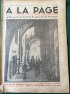 1930 À JÉRUSALEM - RAMBOUILLET LA BERGERIE NATIONALE - Journaux - Quotidiens