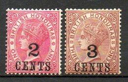 HONDURAS - (Colonie Britannique) - 1888-89 - N° 26 Et 27 - (Lot De 2 Valeurs Différentes) - (Victoria) - Honduras
