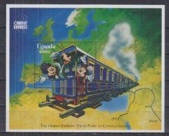 N251. Uganda - MNH - Cartoons - Disney's - Trains - Disney