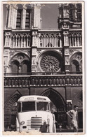 Paris: OLDTIMER AUTOBUS AUTOCAR (BERLIET ??) - Notre-Dame - Real Photo - Voitures De Tourisme