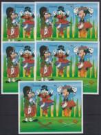 M914. 5x Grenada - MNH - Cartoons - Disney's - Scottish Sword Dance - Disney