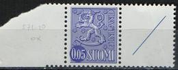 PIA -  FINLANDIA -  1972  : Posta Ordinaria - Leone Rampante - Nuova Moneta  -  (Yv 532bB ) - Unused Stamps