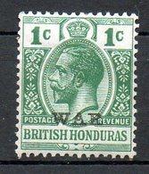 HONDURAS - (Colonie Britannique) - 1913-21 - N° 73 - 1 C.  Vert - (George V) - Honduras