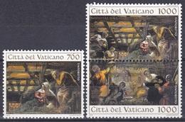 Vatikan Vatican 1994 Religion Christentum Weihnachten Christmas Kunst Arts Gemälde Paintings Tintoretto, Mi. 1133-5 ** - Vatikan