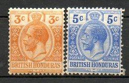 HONDURAS - (Colonie Britannique) - 1913-21 - N° 75 Et 76 - (Lot De 2 Valeurs Différentes) - (George V) - Honduras