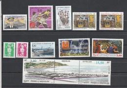 Saint Pierre Et Miquelon 1996 Yvert  N°  624 à 626 + 628 à 631 + 636 à 638 + 640A  ** - Unused Stamps