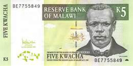 5 (Five) Kwacha Malawi UNC 2005 - Malawi