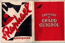 PROGRAMME THEATRE DU GRAND GUIGNOL SAISON 1952-1953  - Du Plomb Pour Ces Demoiselles - La Délaissée - Programmes