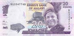 20 (Twenty) Kwacha Malawi UNC 2017 - Malawi