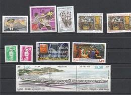 Saint Pierre Et Miquelon 1996 Yvert  N°  624 à 626 + 628 à 631 + 637 Et 638 + 640A  ** - St.Pierre & Miquelon