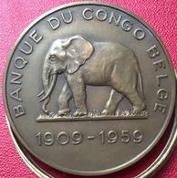 Medaille Congo Banque Belge Matadi Leopoldville - Professionnels / De Société