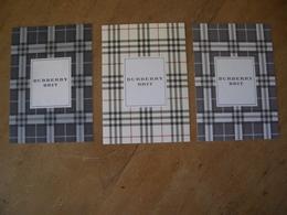 Carte Burberry (3)* - Cartes Parfumées