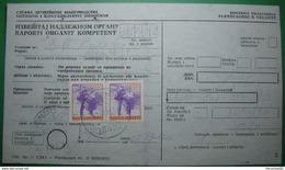1992 YUGOSLAVIA 2 X  10000 DINARA POSTAL STAMP *PTT*, SEAL *PRIZREN* PAYMENT RECEIPT, KOSOVO - SERBIA BILINGUAL - Kosovo