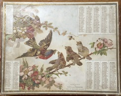 Calendrier Farde ALMANACH DES POSTE ET TELEGRAPHES 1892 - Calendriers