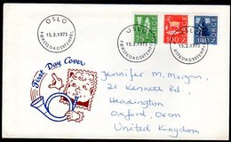 NORWAY 1973 Cultural Motif Definitives On FDC.  Michel 655-57 - FDC