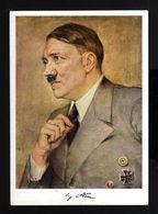 D0023-GERMAN EMPIRE-PROPAGANDA POSTCARD ADOLF HITLER.WWII.DEUTSCHES REICH.POSTKARTE.carte Postale - Briefe U. Dokumente